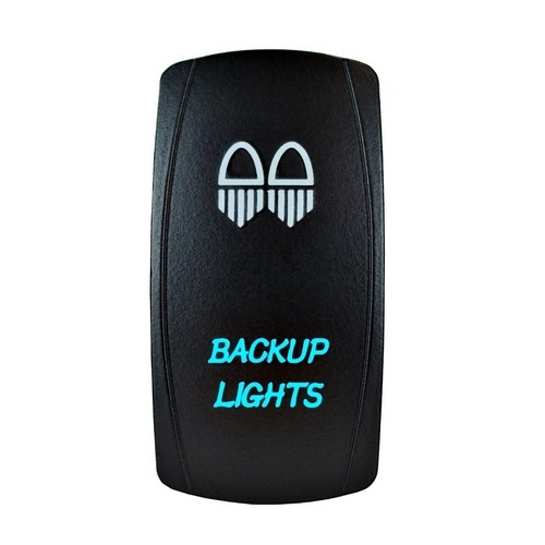 Backup Lights Laser Rocker Switch Blue (2)