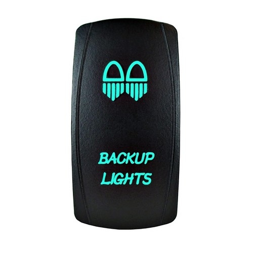 Backup Lights Laser Rocker Switch Green
