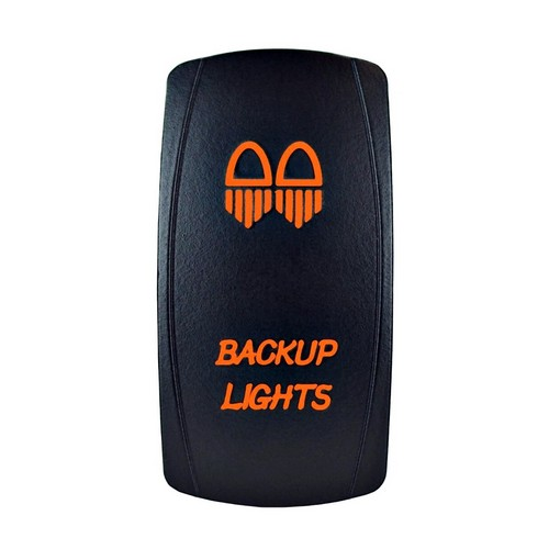 Backup Lights Laser Rocker Switch Orange
