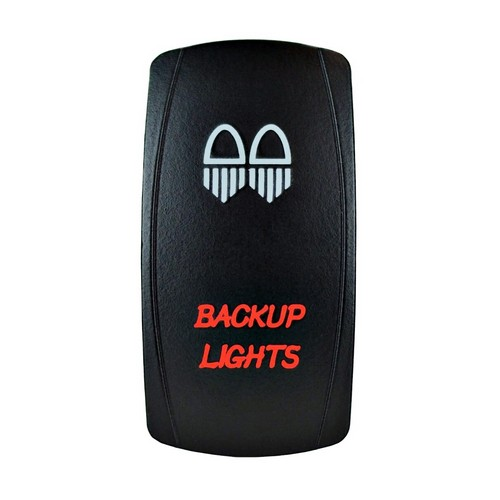 Backup Lights Laser Rocker Switch Red (2)