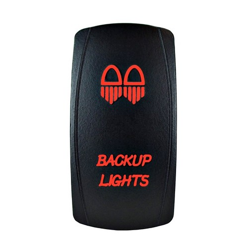 Backup Lights Laser Rocker Switch Red