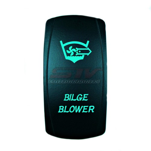 Bilge Blower Laser Rocker Switch Green