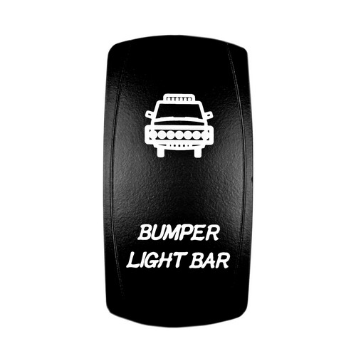 Bumper Light Bar Laser Rocker Switch White