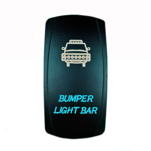 Bumper Light Bar Laser Rocker Switch Blue