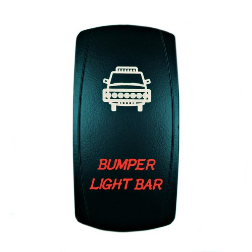 Bumper Light Bar Laser Rocker Switch Red