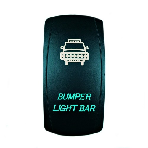Bumper Light Bar Laser Rocker Switch Green