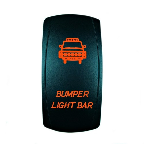 Bumper Light Bar Laser Rocker Switch Orange
