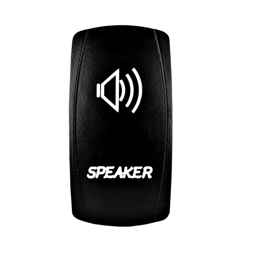 Speakers Laser Rocker Switch White