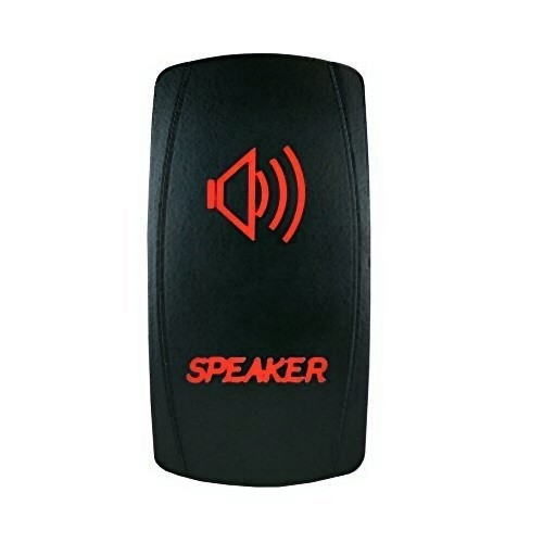 Speakers Laser Rocker Switch Red
