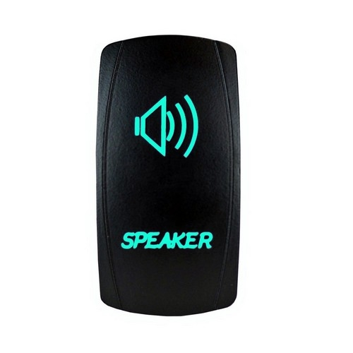 Speakers Laser Rocker Switch Green