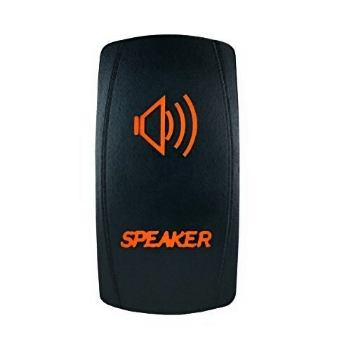Speakers Laser Rocker Switch Orange