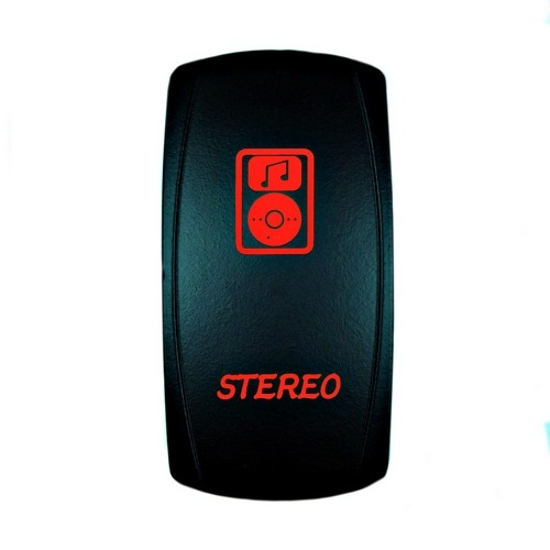 Stereo Laser Rocker Switch Red