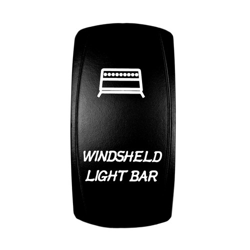 Windshield Light Bar Rocker Switch White