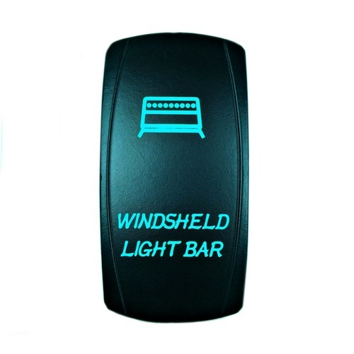 Windshield Light Bar Rocker Switch blue