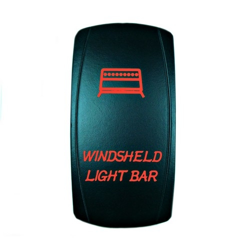 Windshield Light Bar Rocker Switch Red