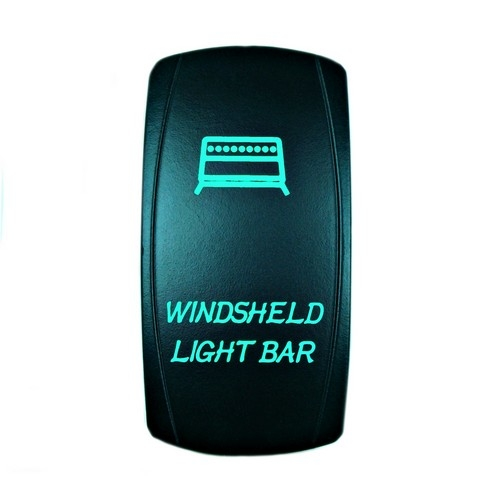 Windshield Light Bar Rocker Switch Green