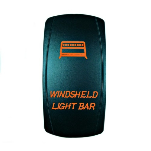 Windshield Light Bar Rocker Switch Orange