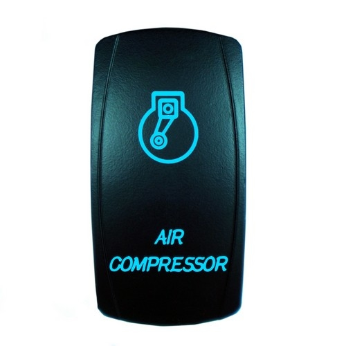 AIR COMPRESSOR Laser Rocker Switch BLUE