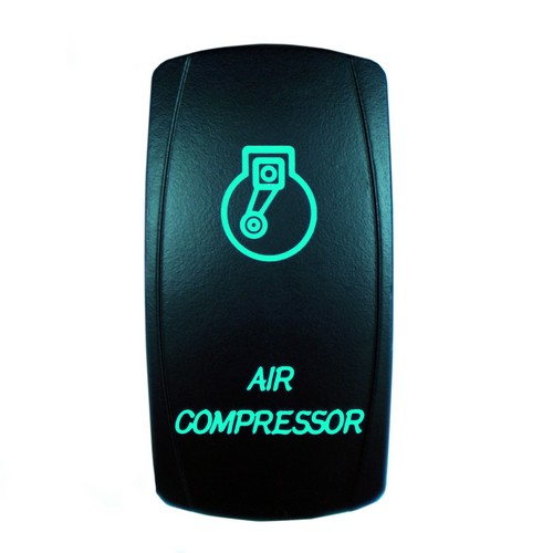 AIR COMPRESSOR Laser Rocker Switch GREEN