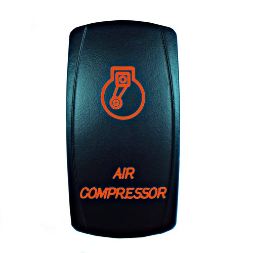AIR COMPRESSOR Laser Rocker Switch ORANGE