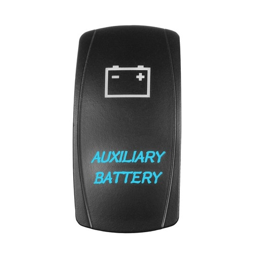 AUXILIARY BATTERY Laser Rocker Switch 3