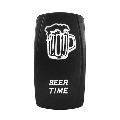 BEER TIME Laser Rocker Switch WHITE