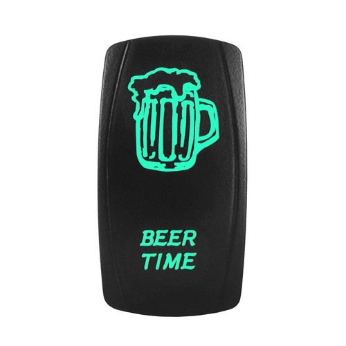 BEER TIME Laser Rocker Switch GREEN