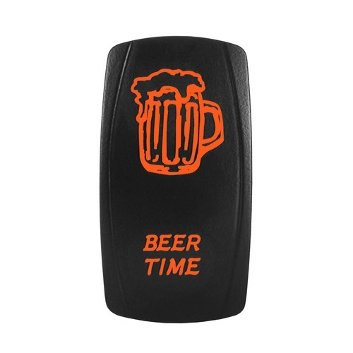 BEER TIME Laser Rocker Switch ORANGE