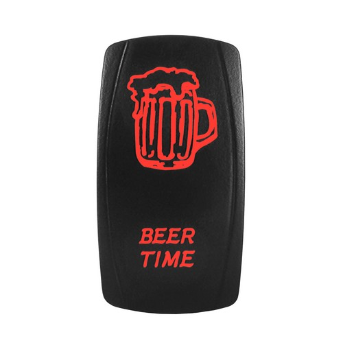 BEER TIME Laser Rocker Switch RED
