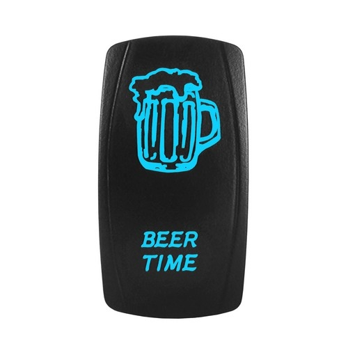 BEER TIME Laser Rocker Switch BLUE