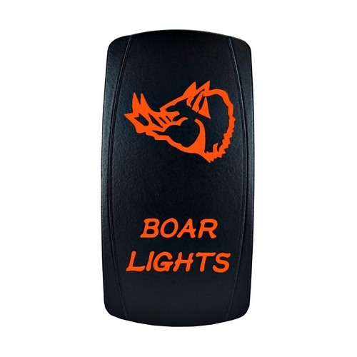 Boar Lights Laser Rocker Switch Orange