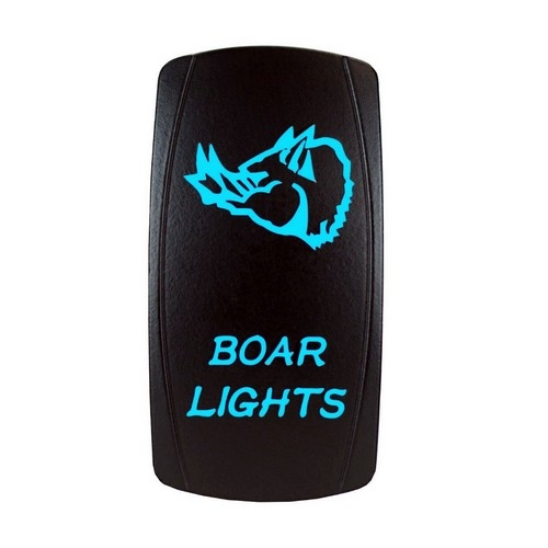 Boar Lights Laser Rocker Switch Blue