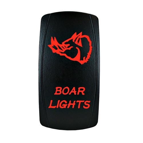 Boar Lights Laser Rocker Switch Red