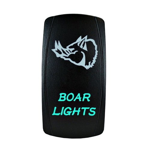 Boar Lights Laser Rocker Switch Green