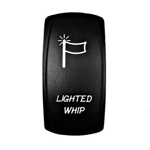 LIGHTED WHIP Laser Rocker Switch