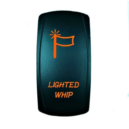 LIGHTED WHIP Laser Rocker Switch ORANGE