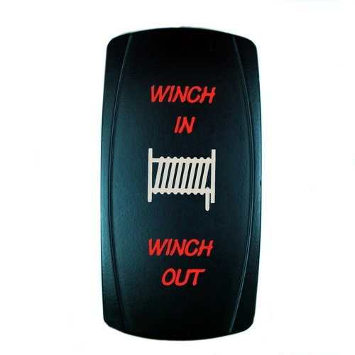Momentary Winch Laser Rocker Switch RED