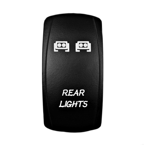 REAR LIGHTS Laser Rocker Switch WHITE