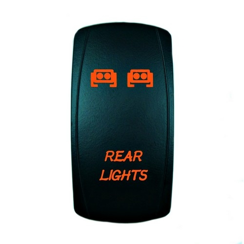 REAR LIGHTS Laser Rocker Switch ORANGE