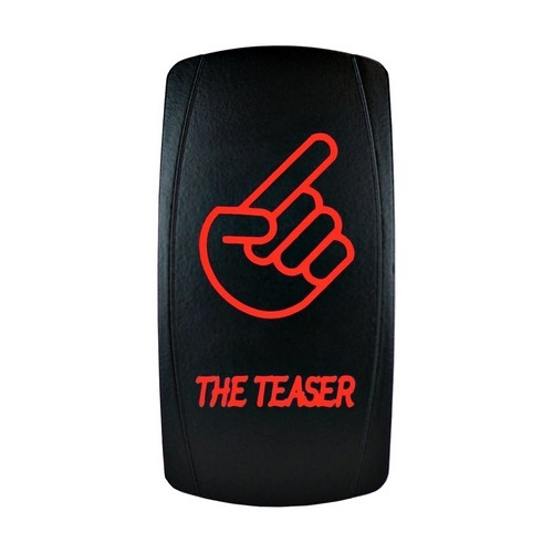 THE TEASER Laser Rocker Switch RED
