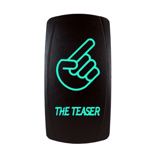 THE TEASER Laser Rocker Switch GREEN