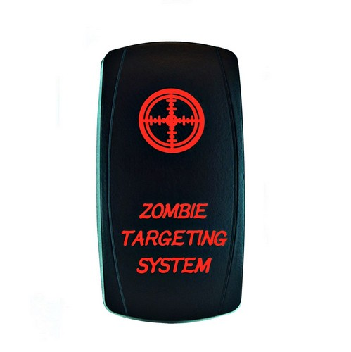 ZOMBIE TARGETING SYSTEM Laser Rocker Switch RED