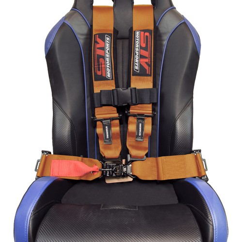Racing Harness 4 point 3 Orange 6