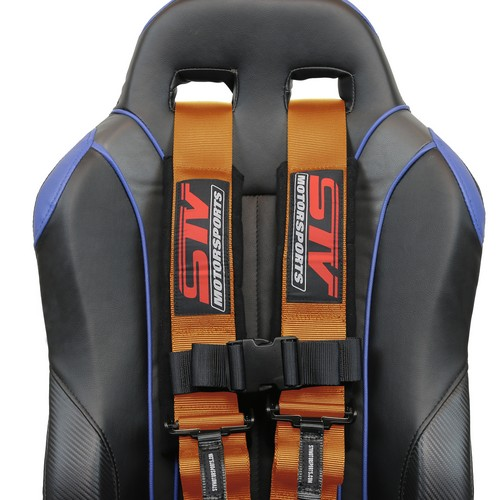 Racing Harness 4 point 3 Orange 7