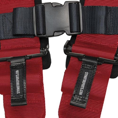 Racing Harness 4 point 3 Red 3