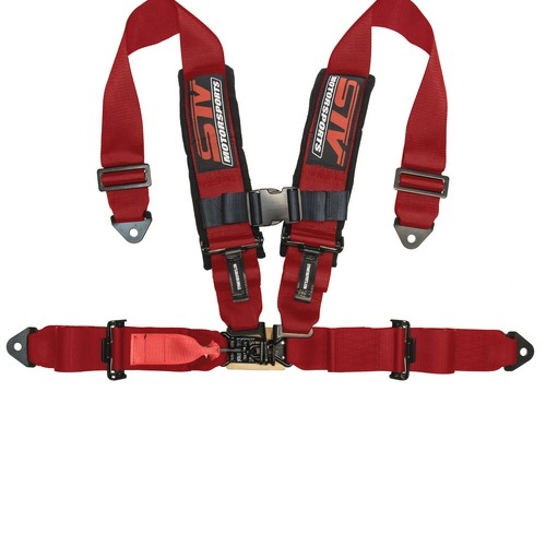 Racing Harness 4 point 3 Red 6