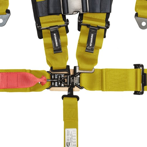 Racing Harness 5 point 3 Yellow 2