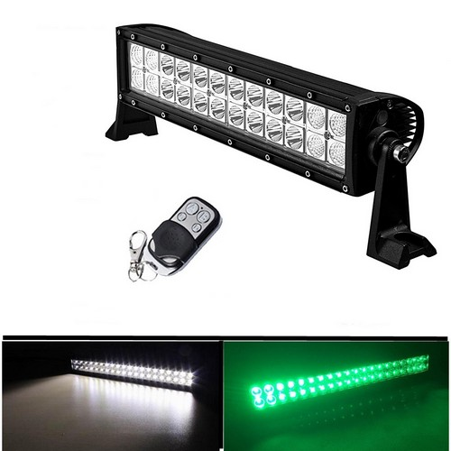 Dual color whitegreenstrobe 12 72w off road led light bar stv dual color whitegreenstrobe 12 72w off road led light bar led light bar white green aloadofball Gallery
