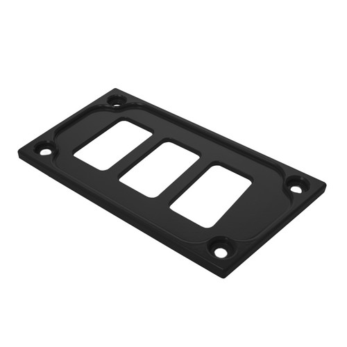 Black Aluminum Lower Side Dash Panel Polaris RZR1000 2