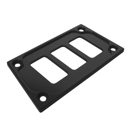 Black Aluminum Lower Side Dash Panel Polaris RZR1000 3